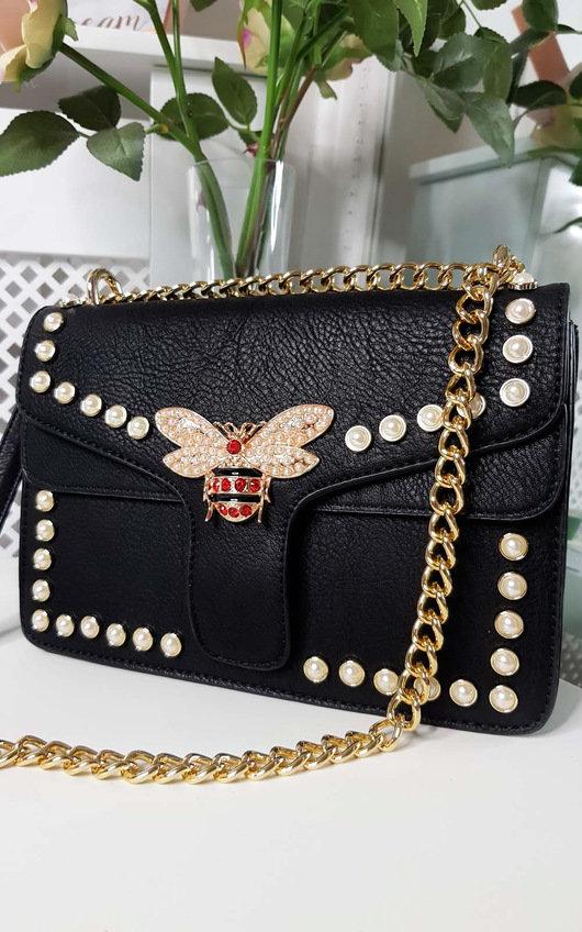 Ninna Pearl Studded Shoulder Bag