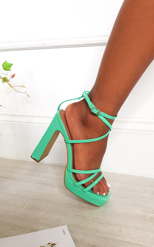 Noa Strappy Block High Heels