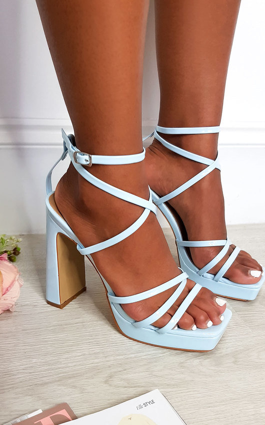 Noa Strappy Block High Heels