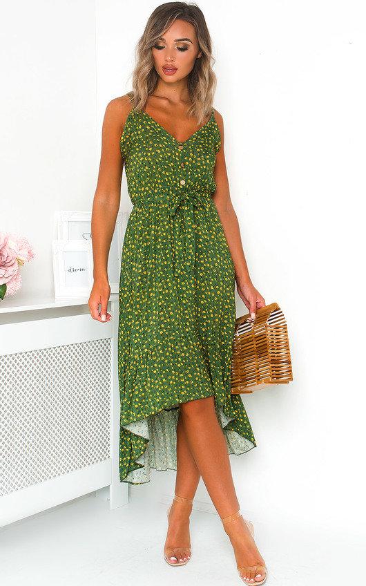 Nola Ditsy Print Maxi Dress