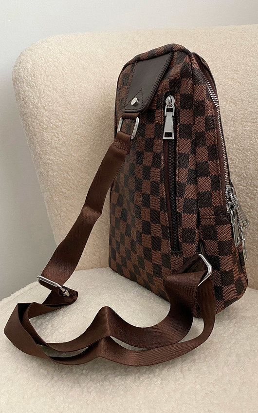 Nora Faux Leather Checked Backpack Bag