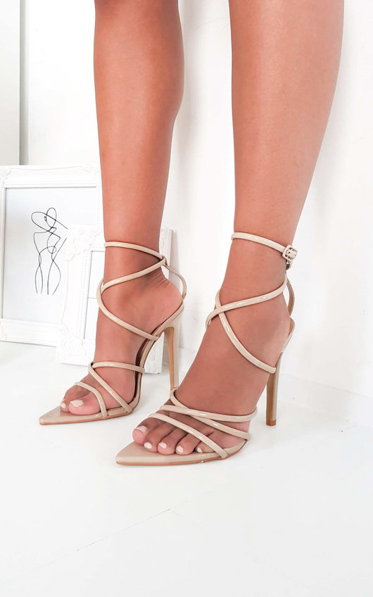 Nora Strappy Pointed High Heels