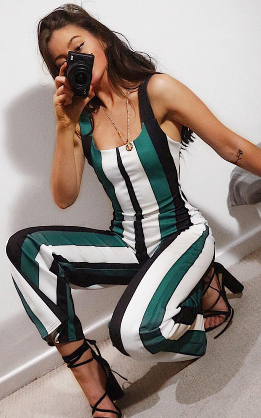 Nora Striped Wide Leg Jumpsuit
