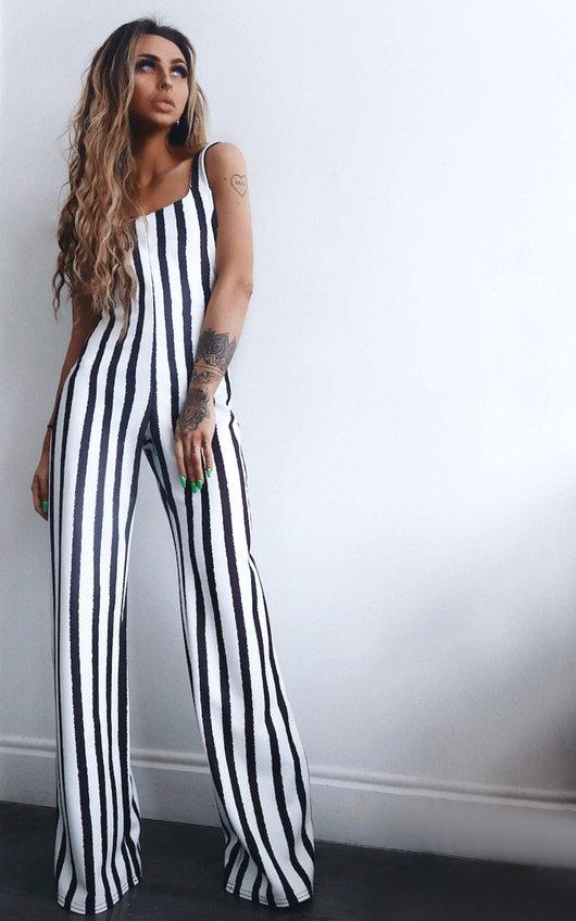 Nora Striped Wide Leg Jumpsuit