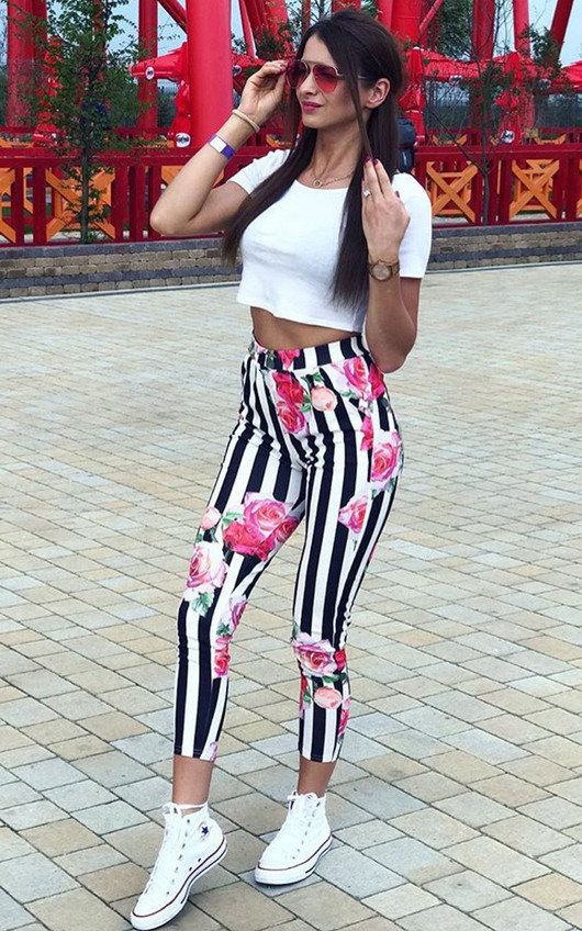 Norie Floral Slim Trousers