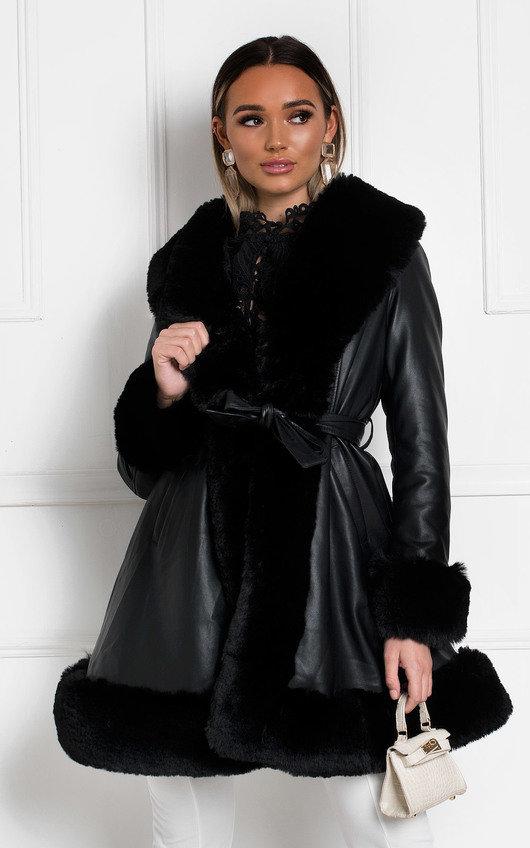 Normani Faux Leather Coat