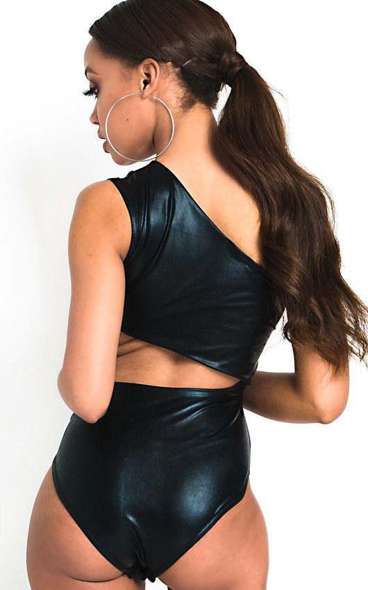 Nova Cut Out Wetlook Bodysuit