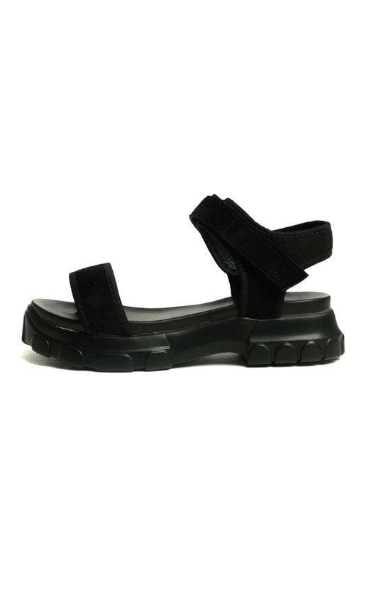 805454d53 Nova Double Buckle Sport Chunky Sandals in Black