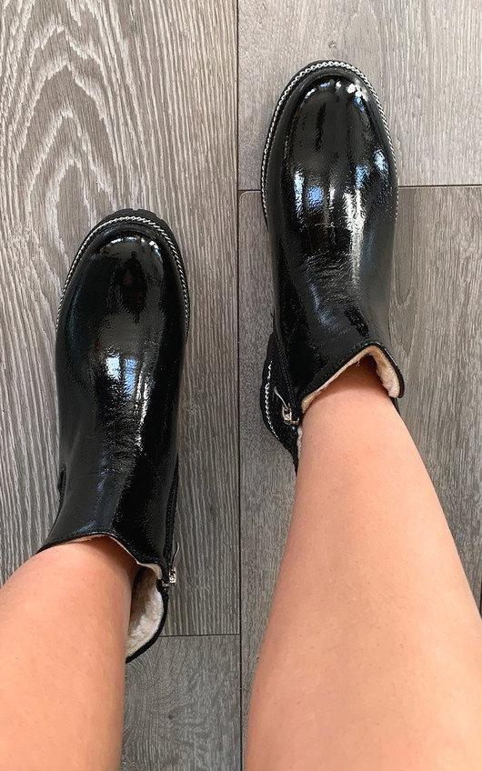 Nova Patent Ankle Boots