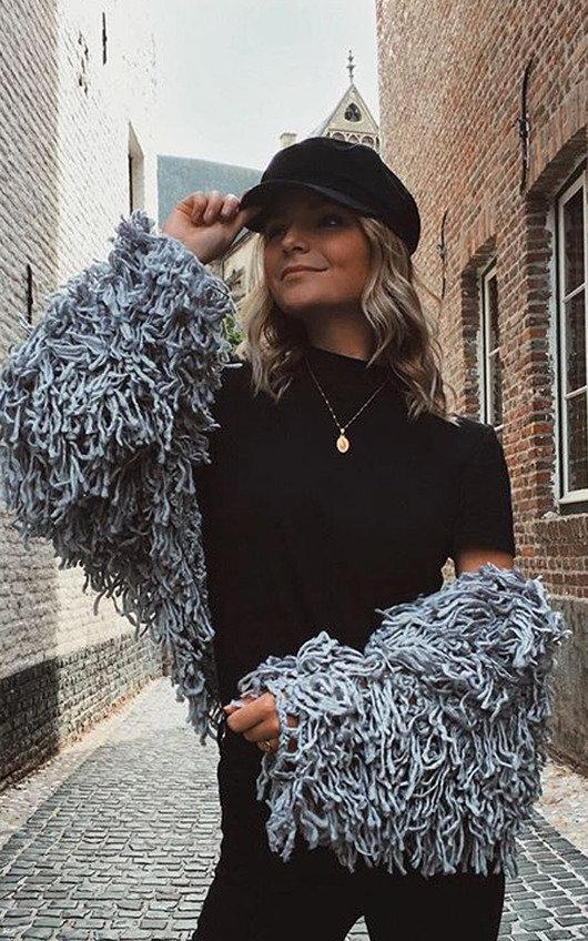 Nova Shaggy Knit Cropped Jacket