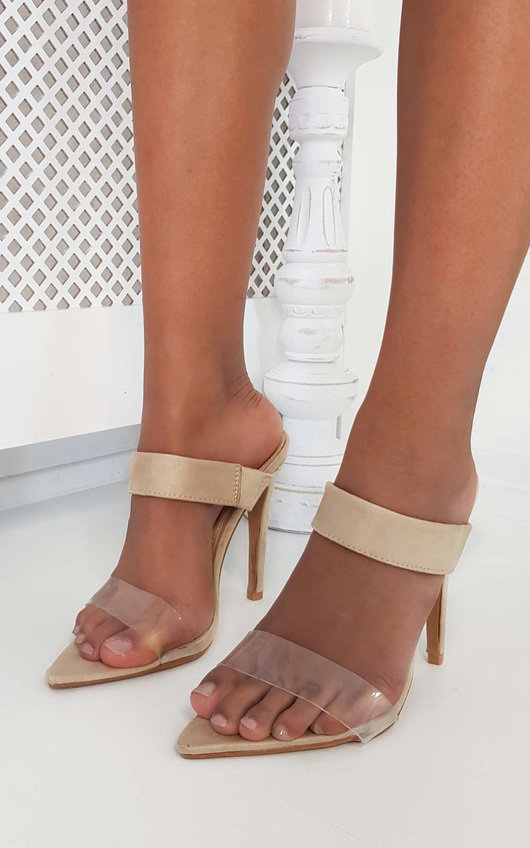 Nyla Barely There Perspex Heels