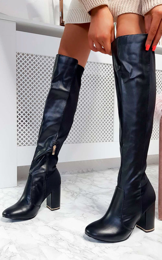 Olivia Knee High Heeled Boots