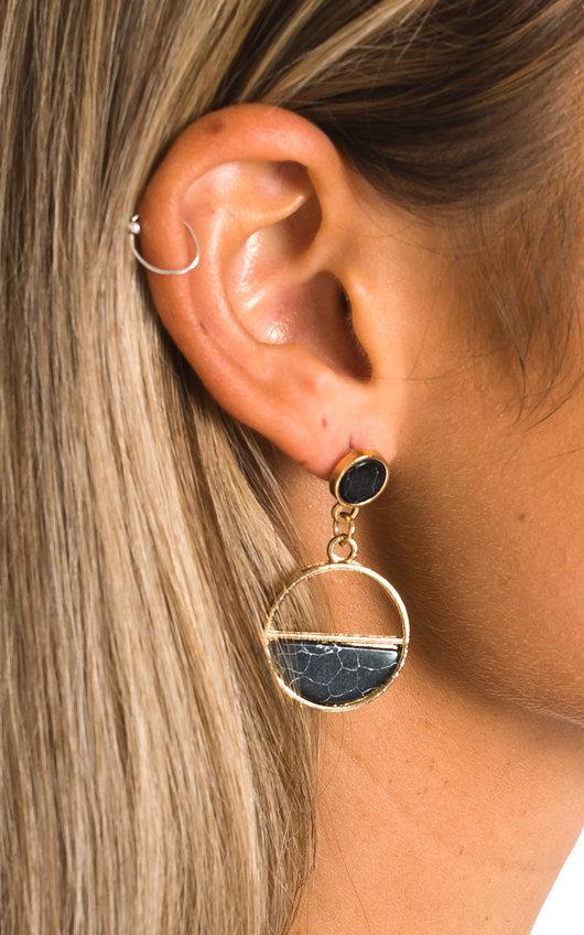 Ollie Circle Drop Earrings