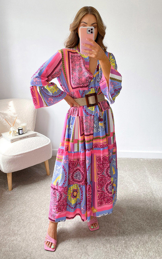 Omy Printed Midi Dress