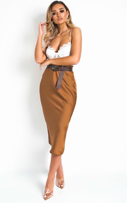 Opal Satin Midi Skirt