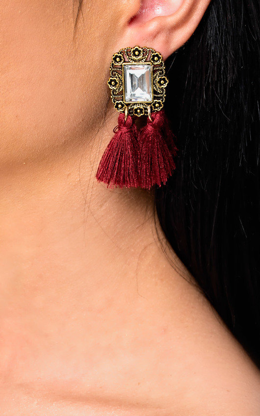 Ora Jewelled Tassel Earrings