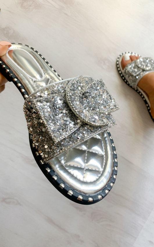 Orla Embellished Slip On Sandals