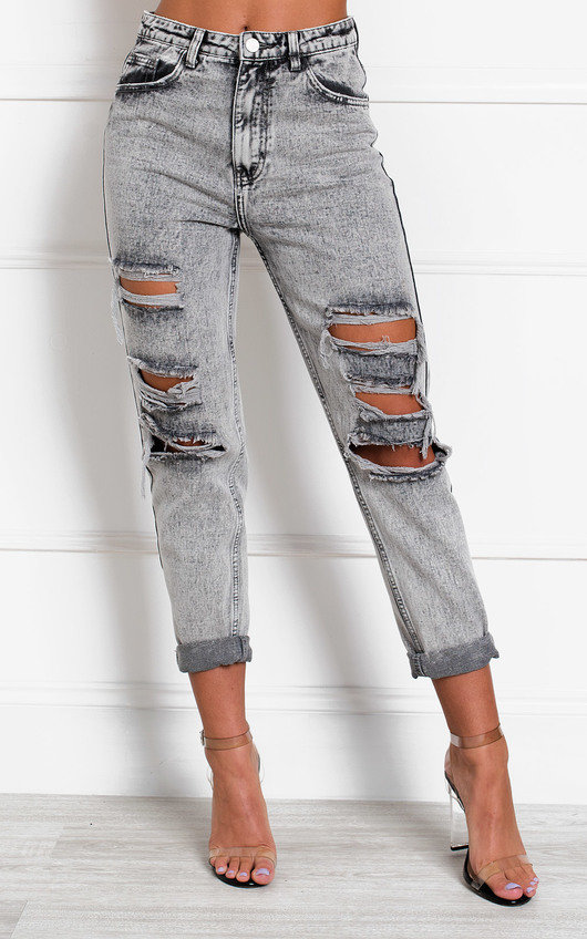 Orlagh Distressed Straight Leg Jeans