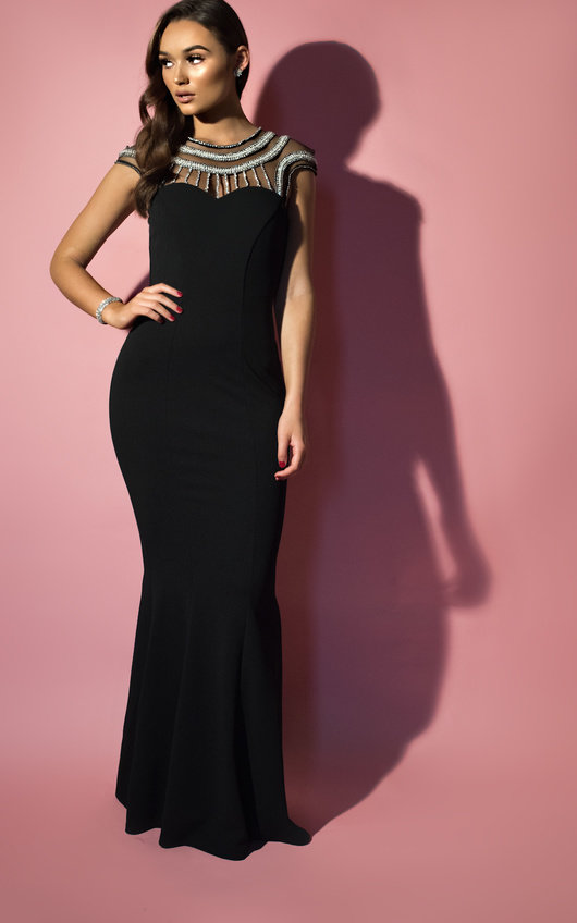 Paige Embellished Fishtail Maxi Dress