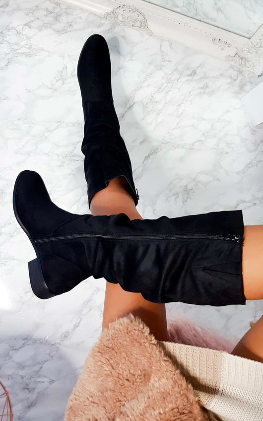 Pamela Faux Suede Gathered Boot