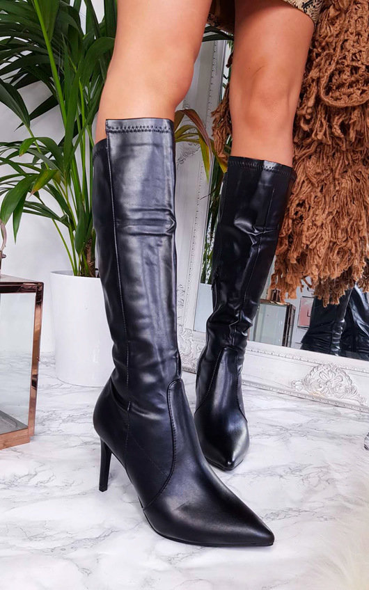 Pami Heeled Knee High Boots