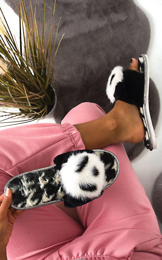 Panda Faux Fur Slippers