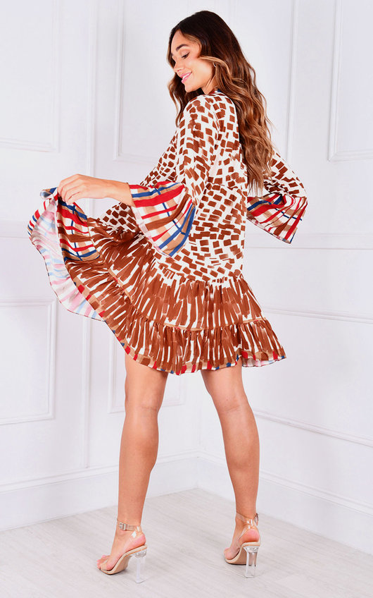Paolo Button Up Printed Dress