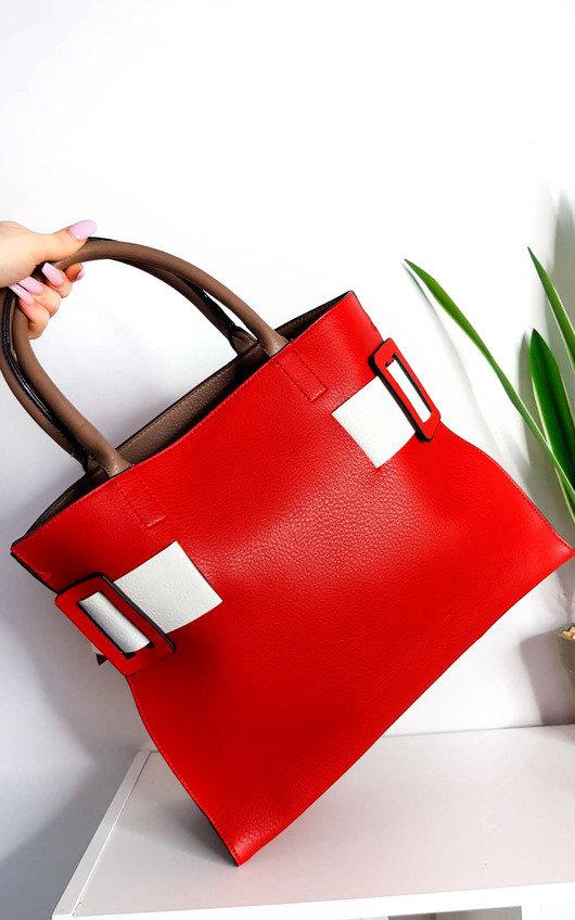 Paris Two Tone Belt Handbag