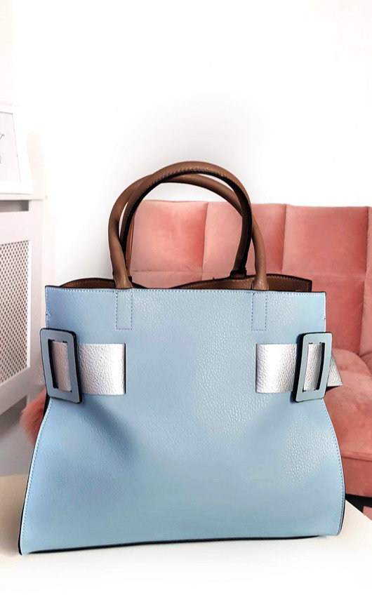 Paris Two Tone Belt Handbag