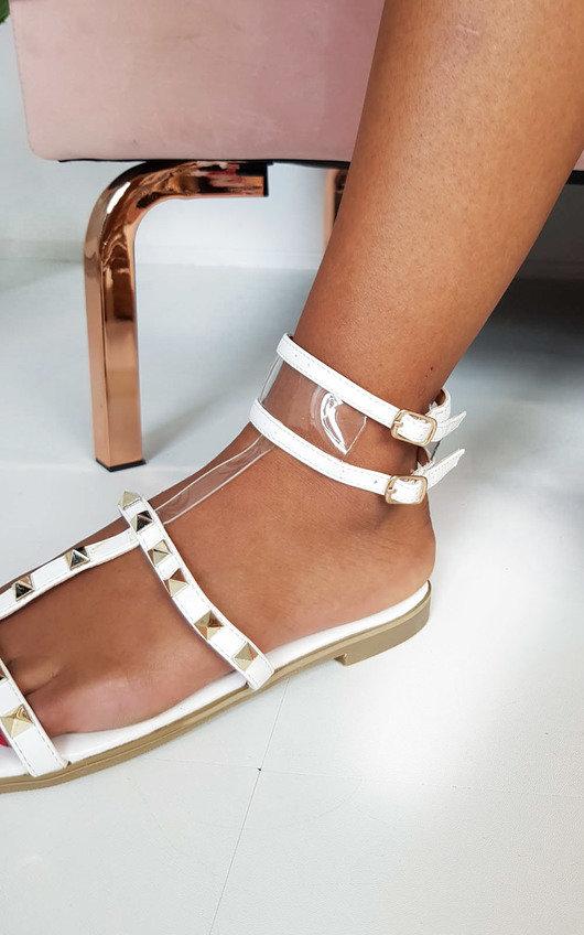 Paula Studded Perspex Sandals