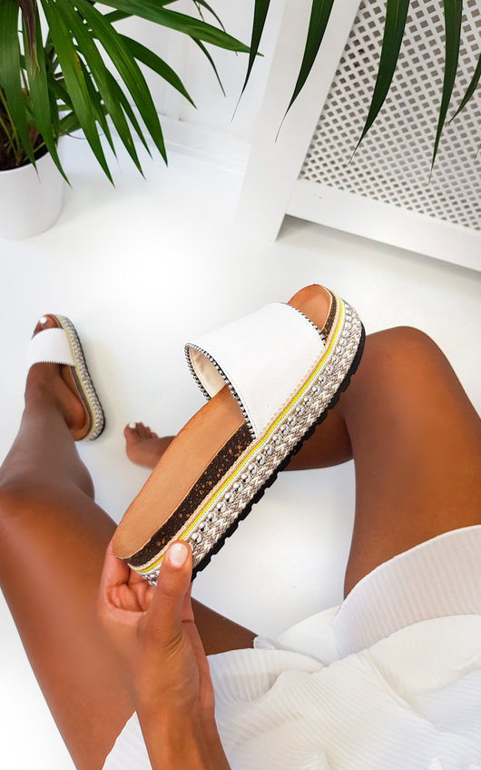 Penelope Studded Woven Sandals