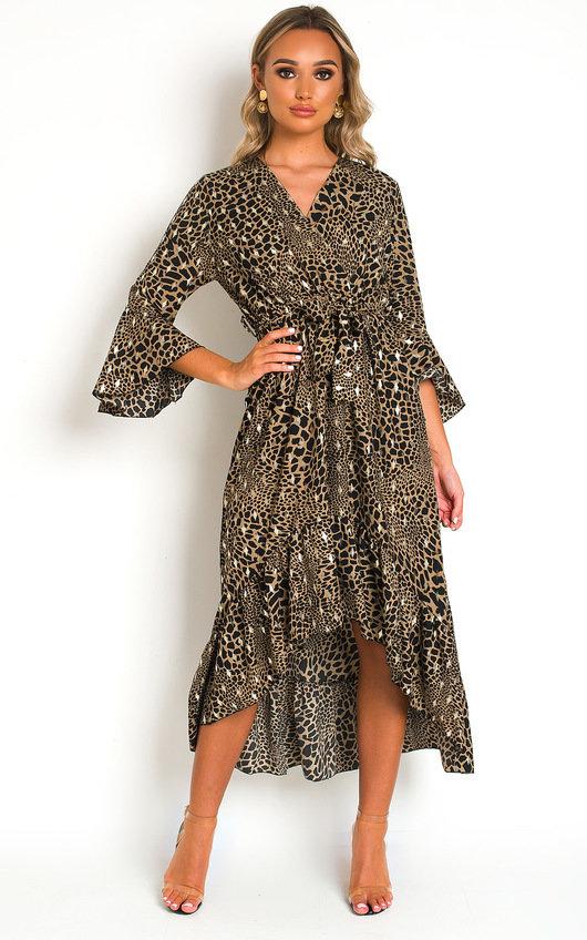 Pennie Croc Print Maxi Dress