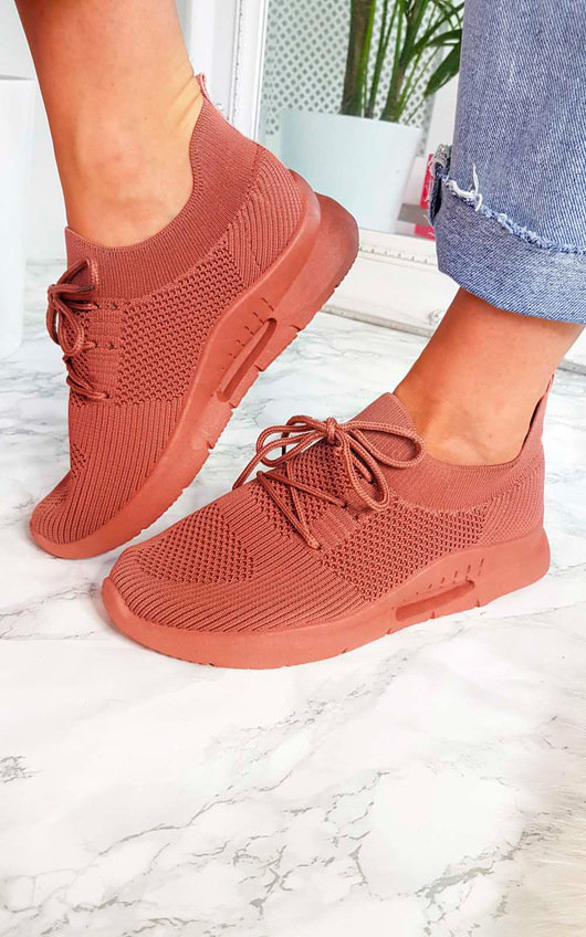 Pennie Lace Up Sock Trainer