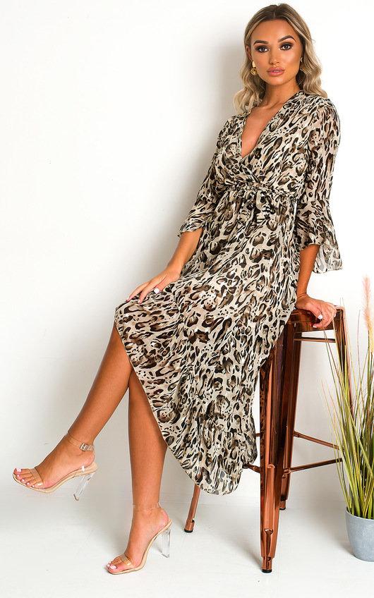 Pennie Leopard Print Maxi Dress