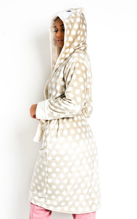 Pennie Polka Dot Dressing Gown