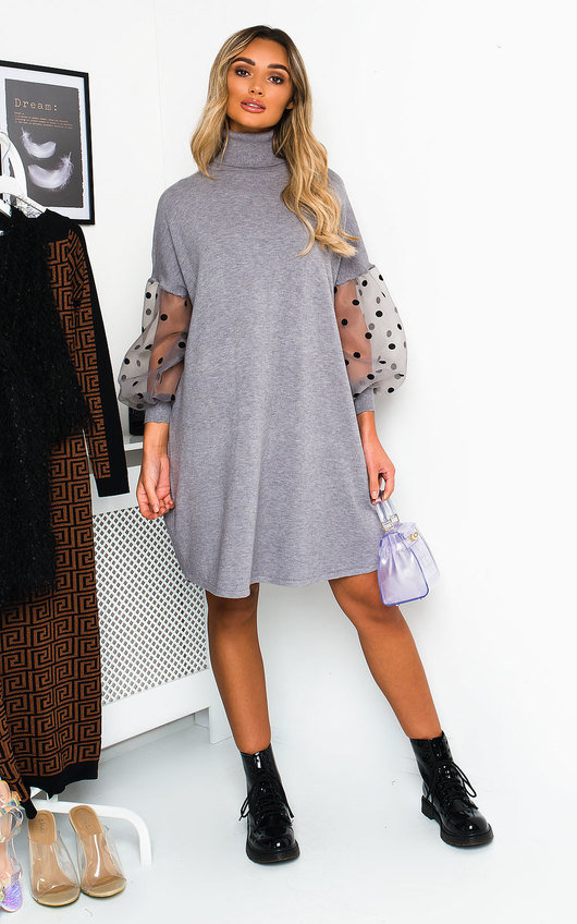 Pennie Polka Dot Sleeve Jumper Dress