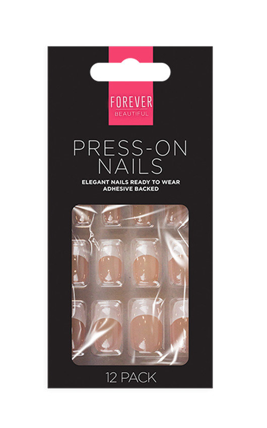 Mani 10 Instant Nails Set of 12 French Nails