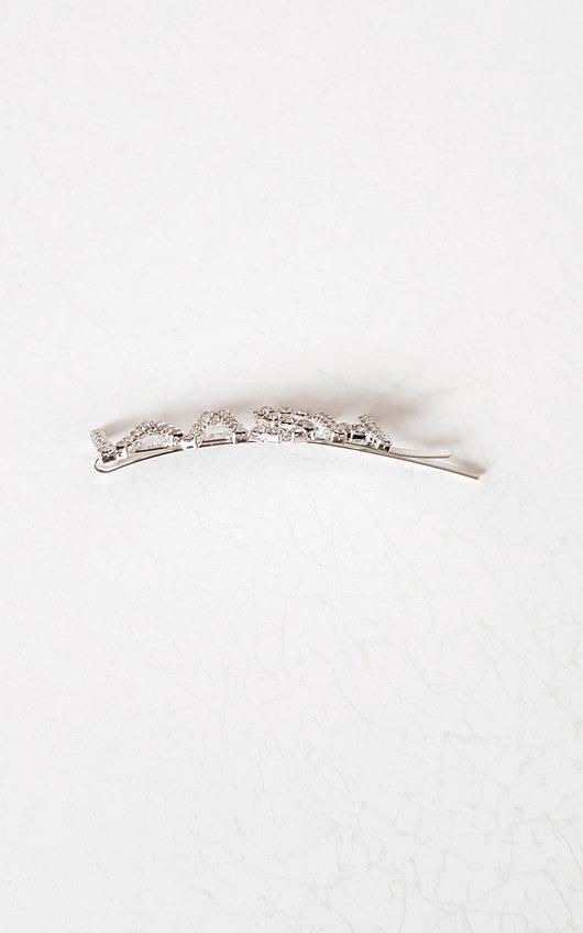 Perry Slogan Diamante Detail Hair Clip