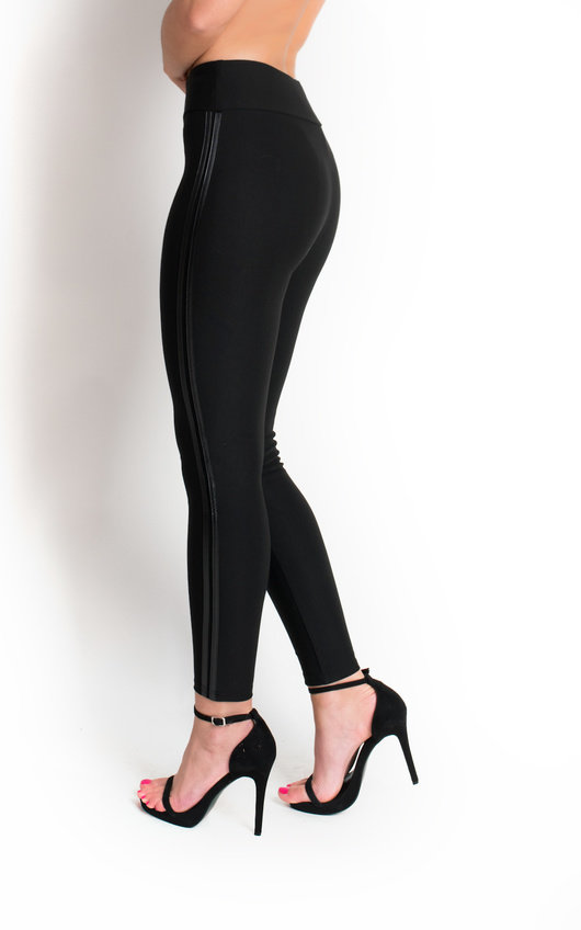 Petra High Waisted Striped Leggings