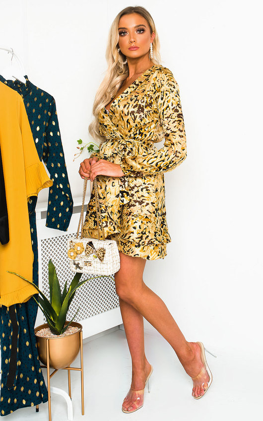Petra Leopard Print Mini Dress