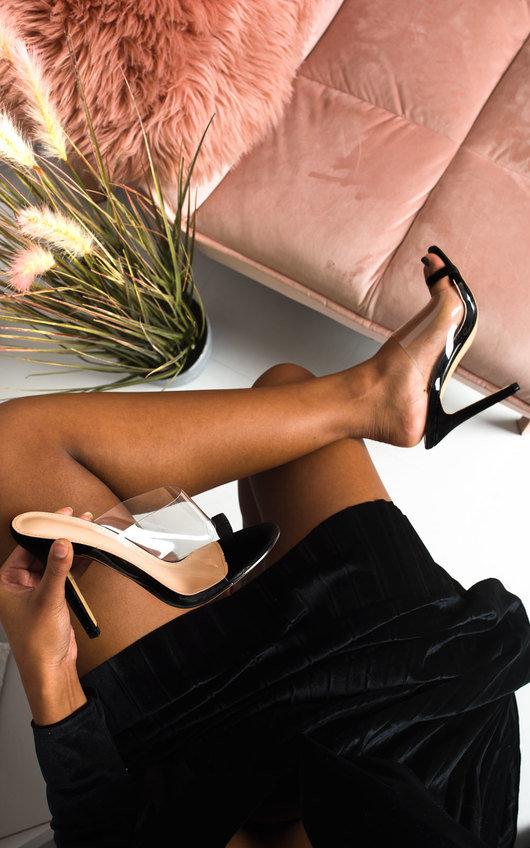 Petra Perspex Strap High Heels