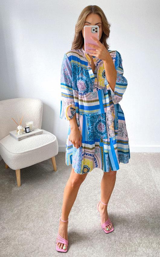 Petra Printed Mini Dress