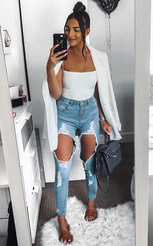Petra Ripped Skinny Jeans