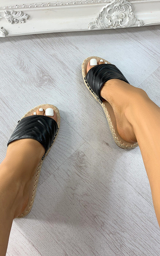 Piper Quilted Slip On Sandals