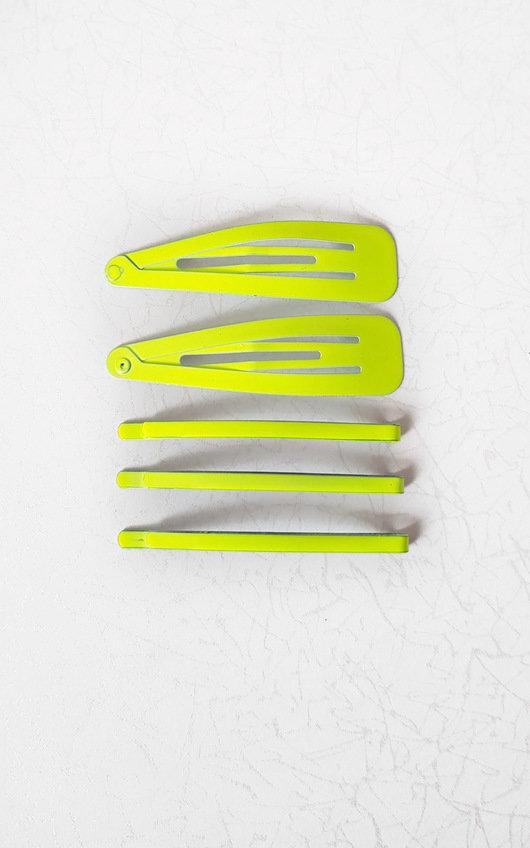 Pixi Neon Set of Hair Clips