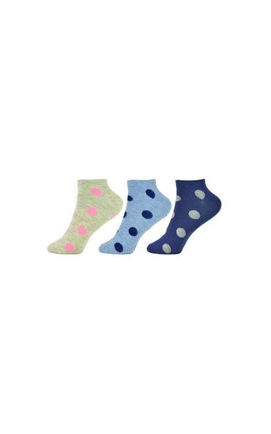 Polka Dot Printed Ankle Socks Multi Pack