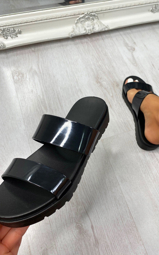 Polly Double Strap Sliders