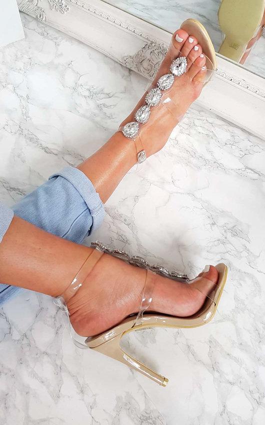 Polly Embellished Perspex Heels