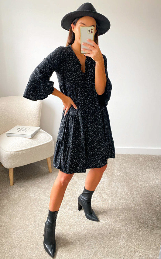 Poppie Printed Smock Dress