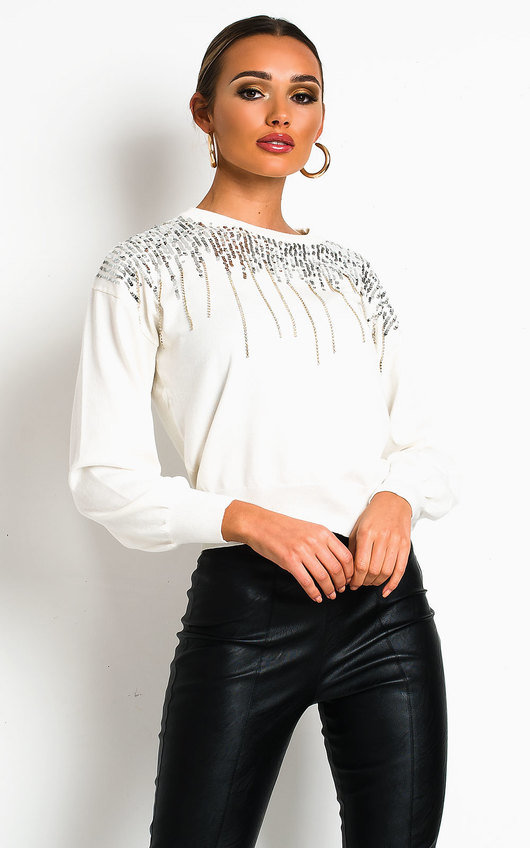 Poppie Sequin Embellished Jumper